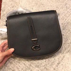 Coach 1941 Glovetan Saddle Bag black